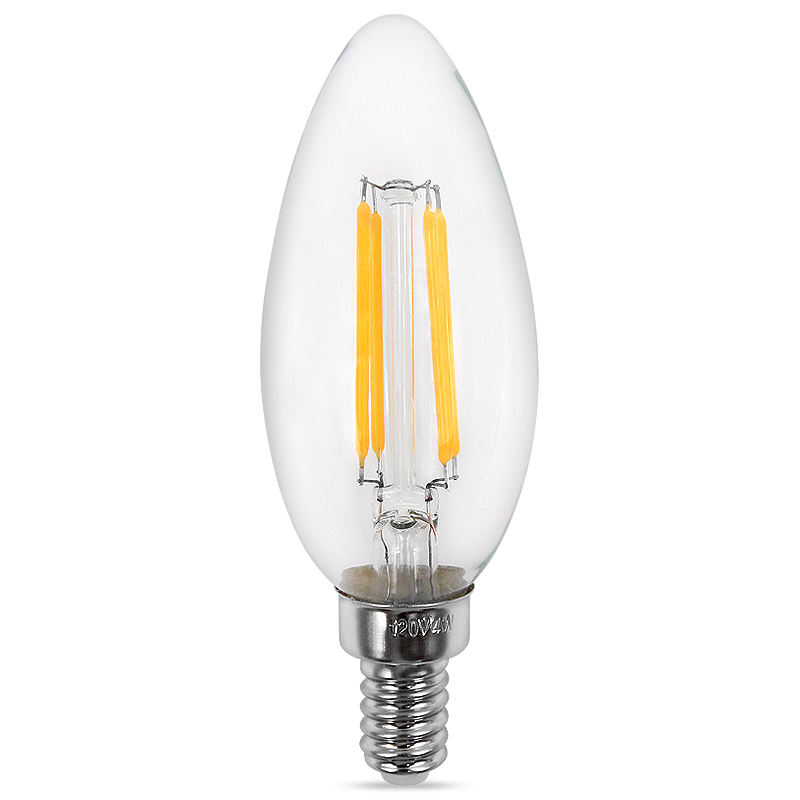 Vintage Style 6W 110 220V 500LM E14 E12 Filament Flicker Free and Dimmable Lights C35