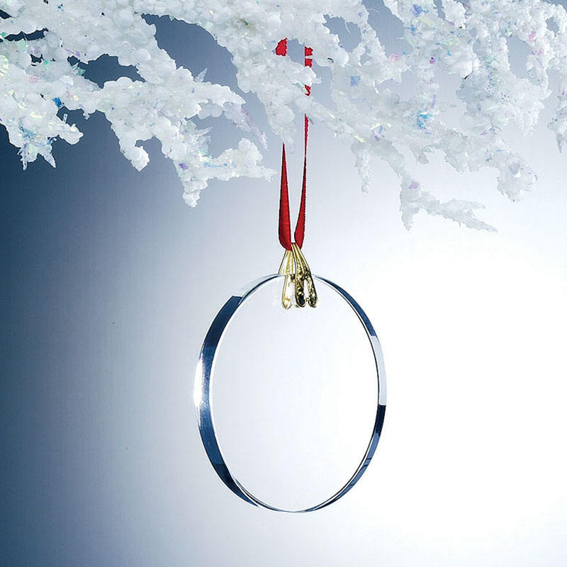 Round Shaped Glass Crystal Blank Hanging Ornaments for Decoration