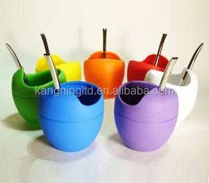 Argentina Silicone Mate Gourd Yerba Tea Cup With Bombilla Straw