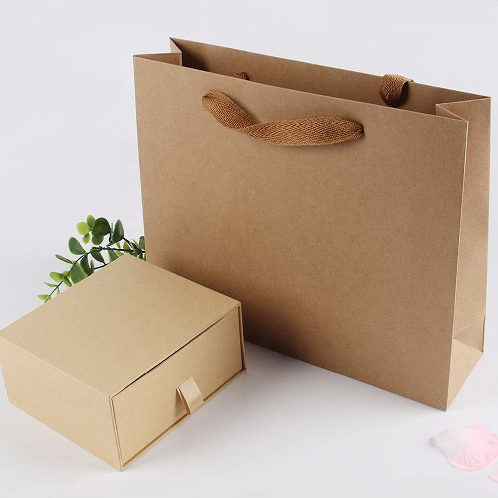 custom party favour presentation cardboard paper gift bags with gift paper box