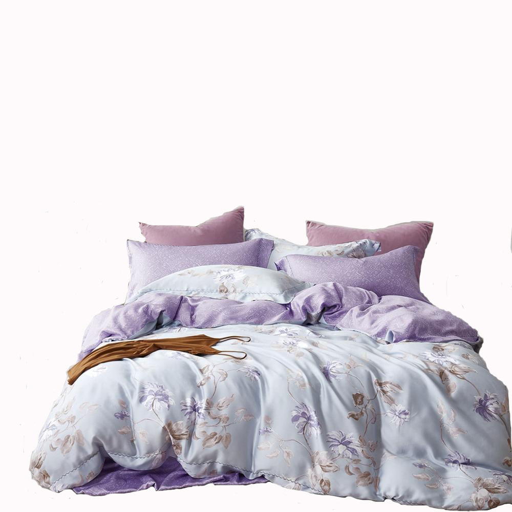 New luxury 100% organic tencel lyocell designs flower bedding sets bedsheet sets quilt comforter pillowcase