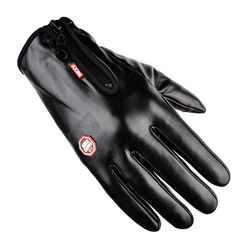 Men And Women Motorcycle Cycling Anti-Skid Anti-Static Leath
