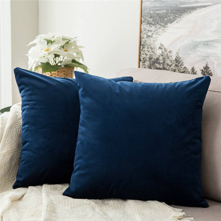 Home Decorative Throw Pillow Covers, Square Cushion Covers Outdoor Couch Sofa Home Velvet Cushion Cover