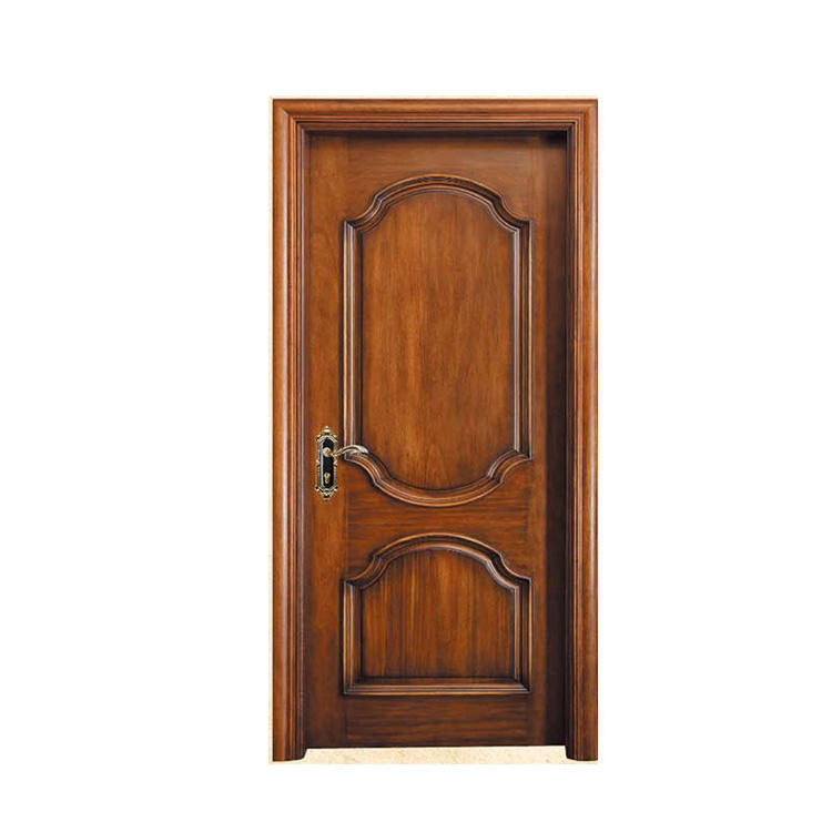 New hot selling products nigeria style wood doors nature teak polish color modern interior door
