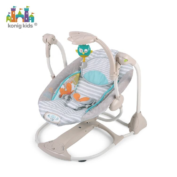 Konig Kids 40LBS Baby Electric Rocking Bouncer Chair With Music And Vibration