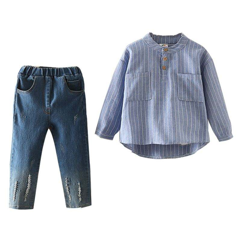 Long-sleeved T-shirt And Latest Designer Kids Jeans Latest Punjabi Suits Design From Bulk Wholesale Clothing