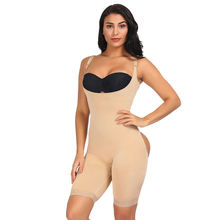 Wholesale Solid Color Nude Sexy Open Butt Lifter Seamless Full Body Slimming Women Shapewear