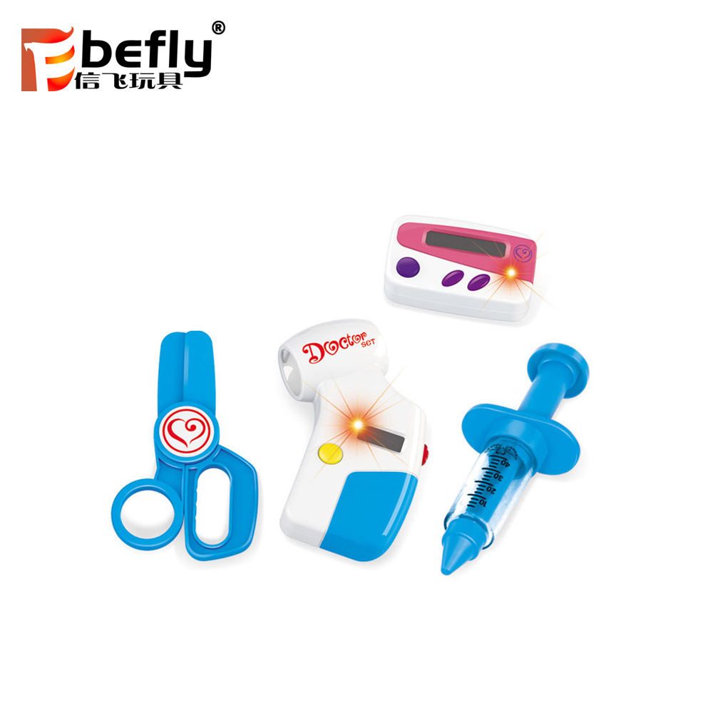 4pcs electric plastic toy doctor kit with syringe