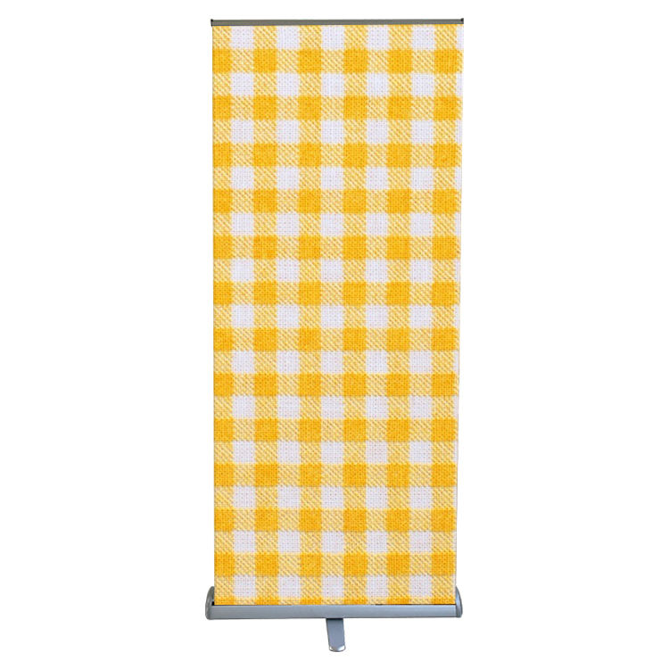Draagbare grote base aluminium metal roll up banner display stand stof pull up standee voor promotie