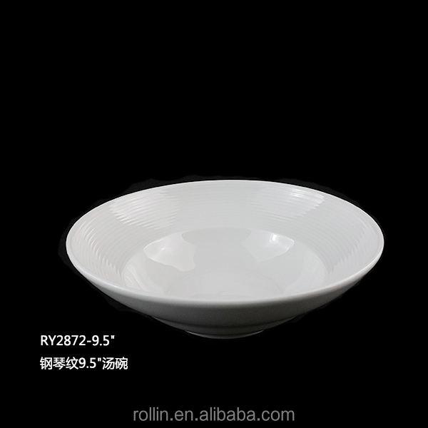 Porcelana redondo en forma de tazón de sopa de profundidad bowls 375 ml