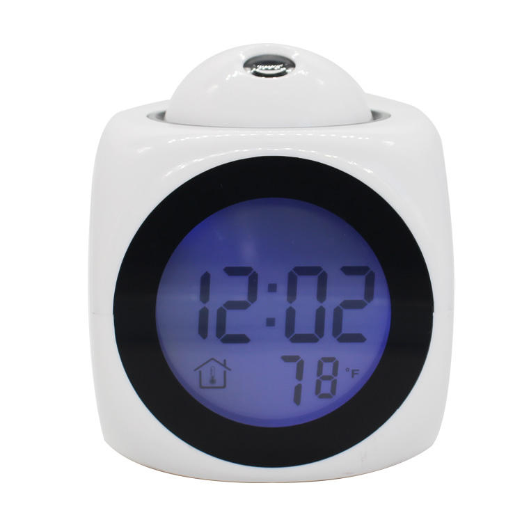 New Style Promotional Time Calendar Projection English Talking Alarm Clock