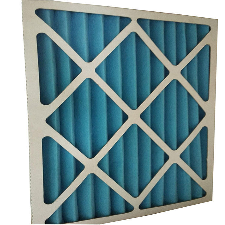 HVAC Cardboard Frame Merv8 Pleated Panel Pre Air Filter