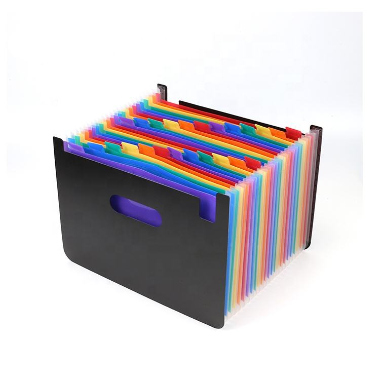 PP plastic Large Walmart Custom printed A4 24 pocket Accordion Expanding File folder Organizer for office supplies