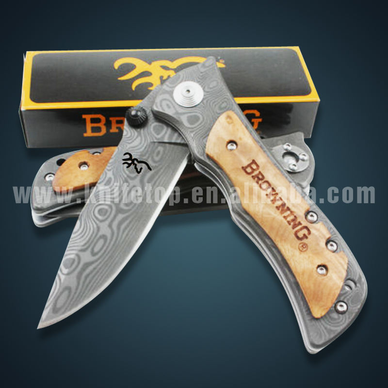 Huiwill folding Blade knife Damascus Stainless Steel Hunting Knife High Quality Survival Camping Outdoor Knife
