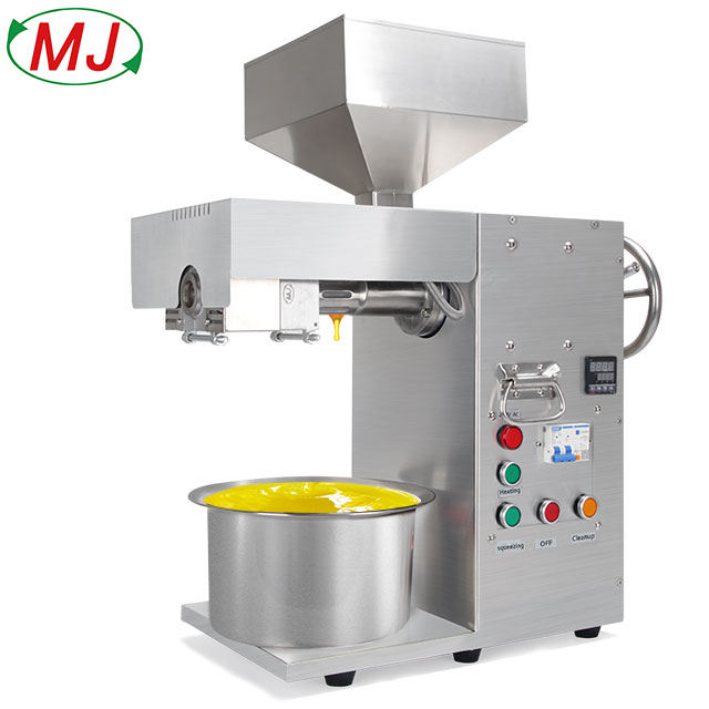 Temperature Control Oil Extractor Commercial Peanut Sesame Oil Press Stainless Steel Machinery Oil Press Small Business Machine
