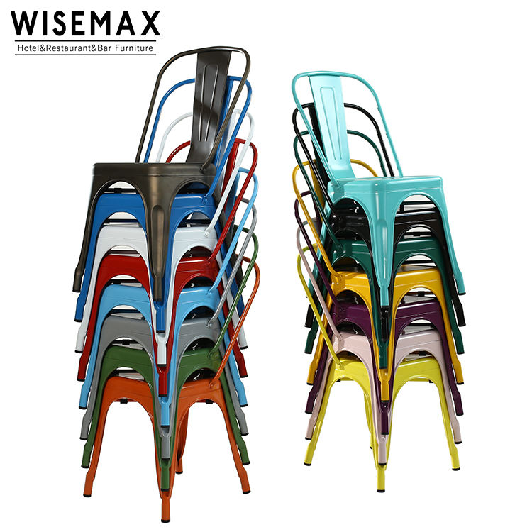 Hot selling best price steel iron frame modern design vintage industrial dining metal chair