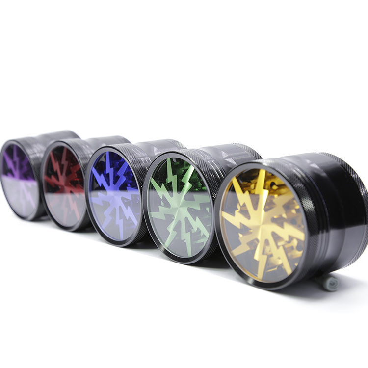 Custom New Style CNC Aluminum Alloy 63mm Herb Grinder 4 Piece