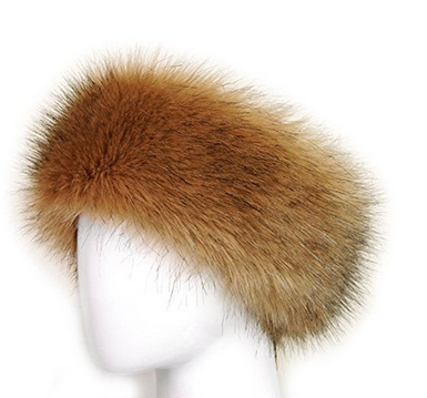 winter ladies womens russian warm Faux Fur Headband