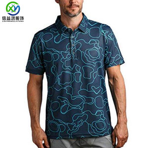 88% Polyester 12% Elastaan, 92% Polyester 8% Spandex sublimatie polo t-shirt Custom Sport Golf T-shirt Voor Mannen
