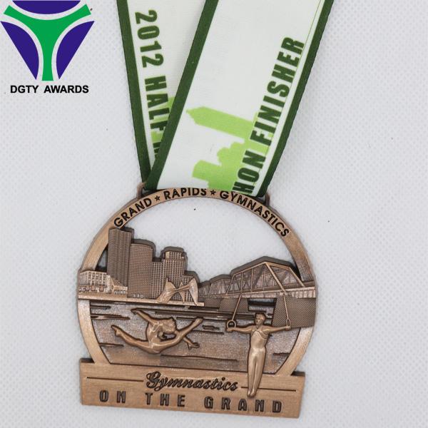 Hollow conmemorativo <span class=keywords><strong>bronce</strong></span> deporte medallas y trofeos al por mayor