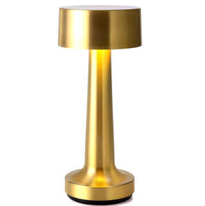 Golden mini touch dimmerled battery operated wireless restaurant rechargeable cordless table lamp lights for bar