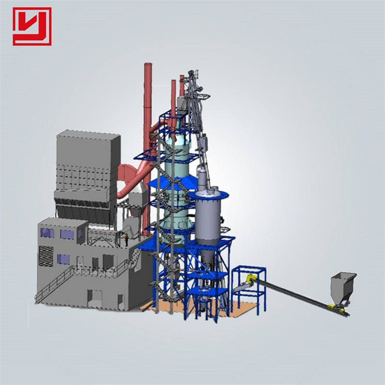 Yuhong 100tpd Small Nature Gas Quick lime Shaft Kiln Production Line Plant Hot sale in Central Asia Africa