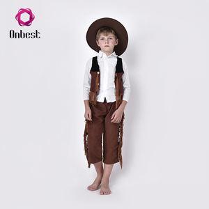 Kovboy Tasarım Baby Boy Giyim Parti Kostümleri Ile Şapka