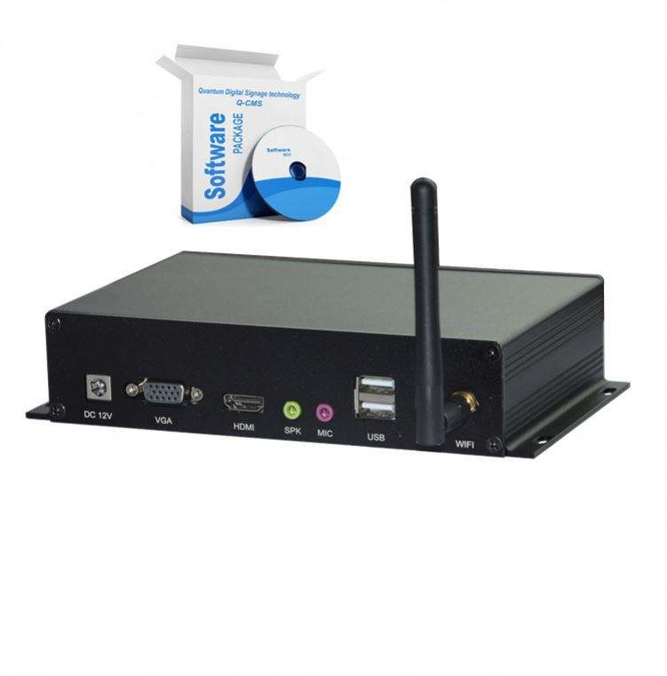 Q-300 Digital Signage HDD Media Box with Wireless Connection