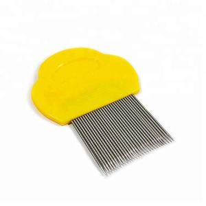 Cat dog pet metal stainless steel head grooming nit lice comb,lice comb for pet
