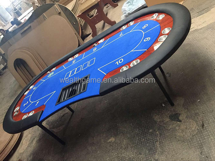 Casino Quality Poker Table With Upgraded Metal Leg