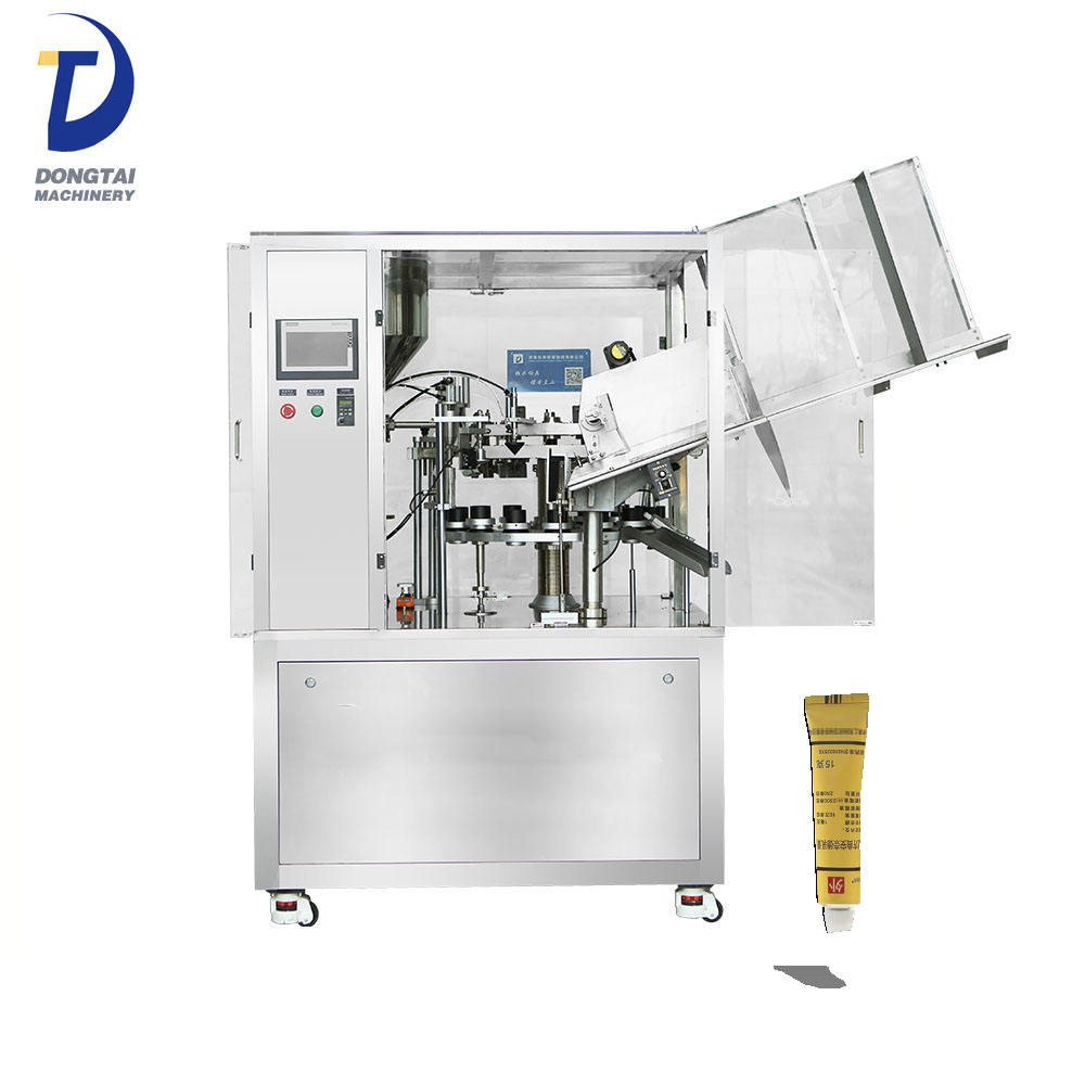 Automatic pharmacy cream /glue tube aluminium tube filling folding machine