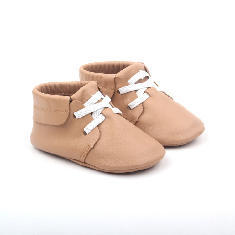 infant baby stylish tan soft sole moccasins shoes