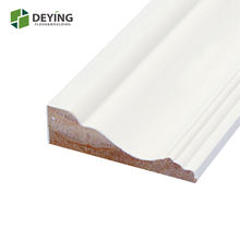 White primed decorative door and window trim moulding