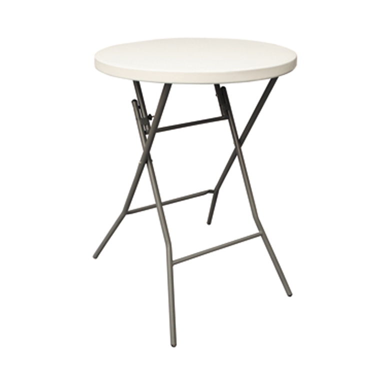 Dia 80cm round plastic high bar foldable party cocktail table