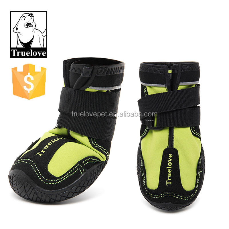 Reflective waterproof dog shoes rubber sole anti slip winter set dog boots set pet dogs winter shoes