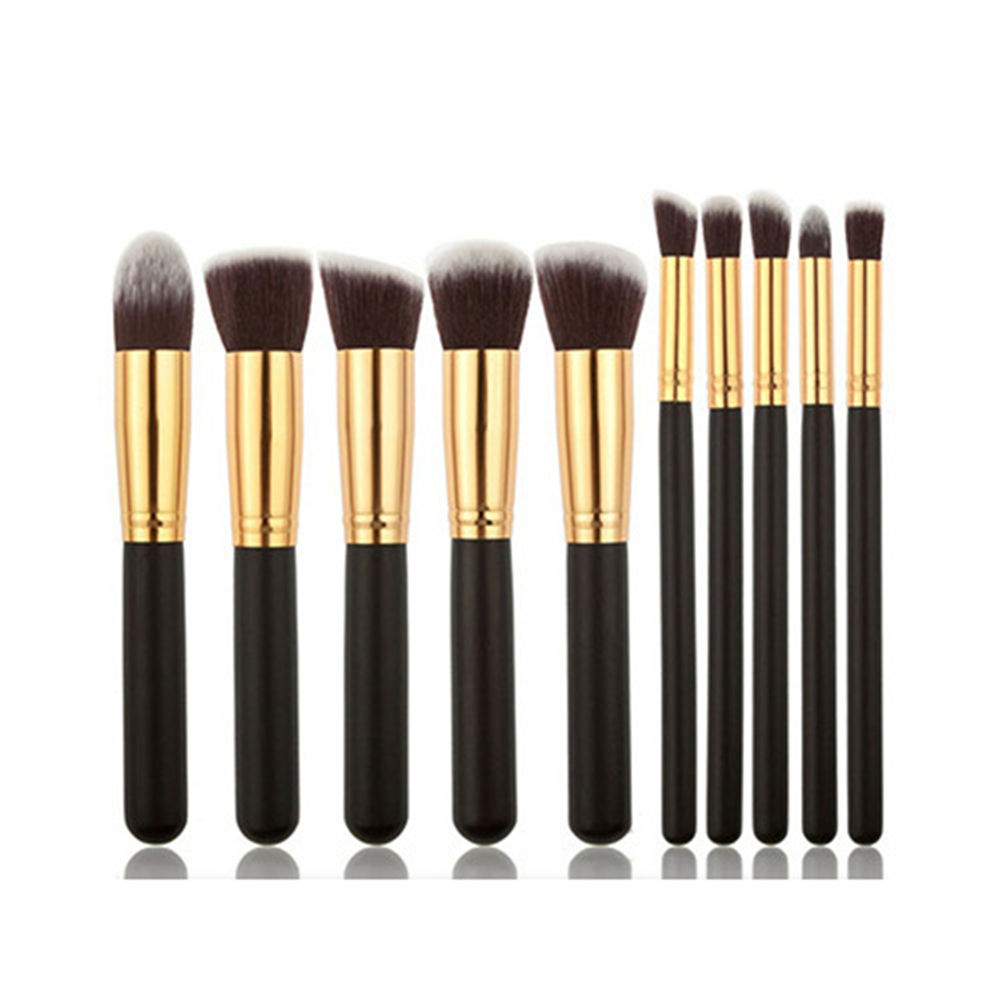 Fancy Metal Cosmetic Beauty Make Up Make-Up Brushes Gradient 10pcs Makeup Brush Set