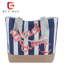 Canvas Printed Women Tote Bag Cotton Beach Bag Summer With Rope Handle