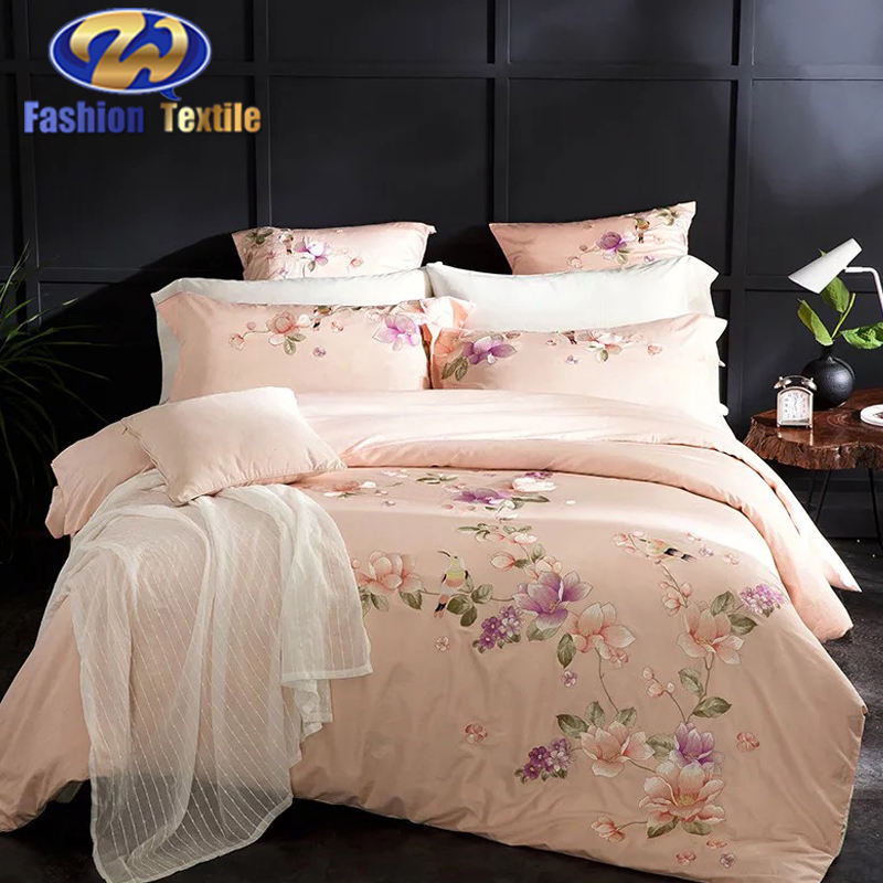 China factory wholesale embroidered bedding sets queen bedspreads and comforters