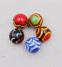 Wholesale Round Feather Design 16mm Ball Toy Glass Marbles for Mosaic tile decorations