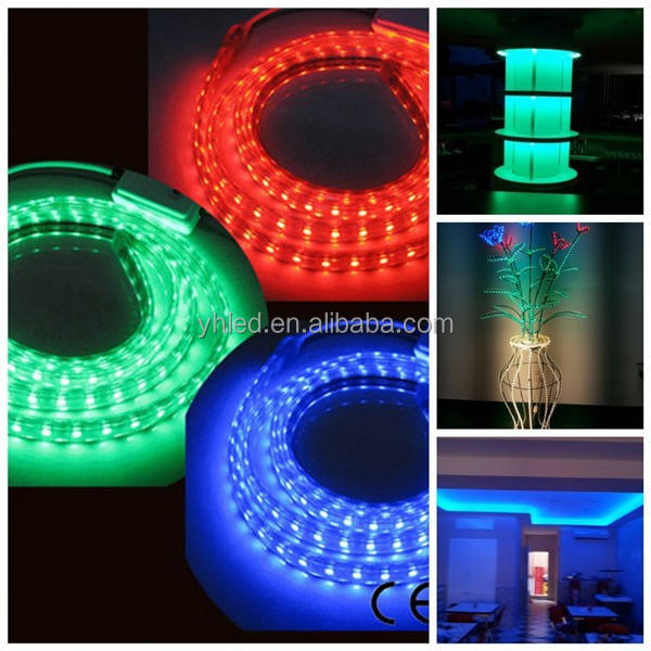 50 Meters/roll RGB color changing led strip Waterproof 5050 RGB LED Strip Light 220V