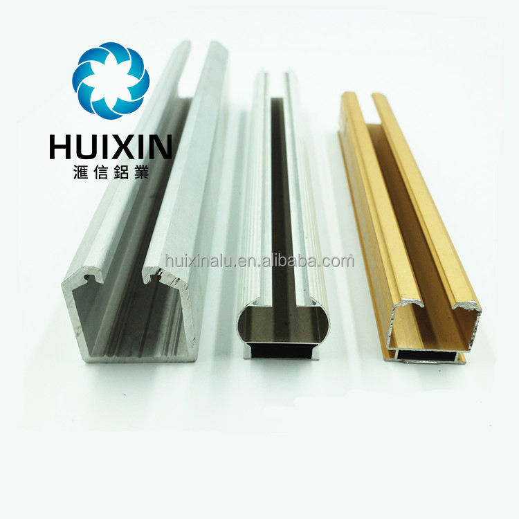 Aluminum Rail Curtain Poles Anodized Window Decoration Pole
