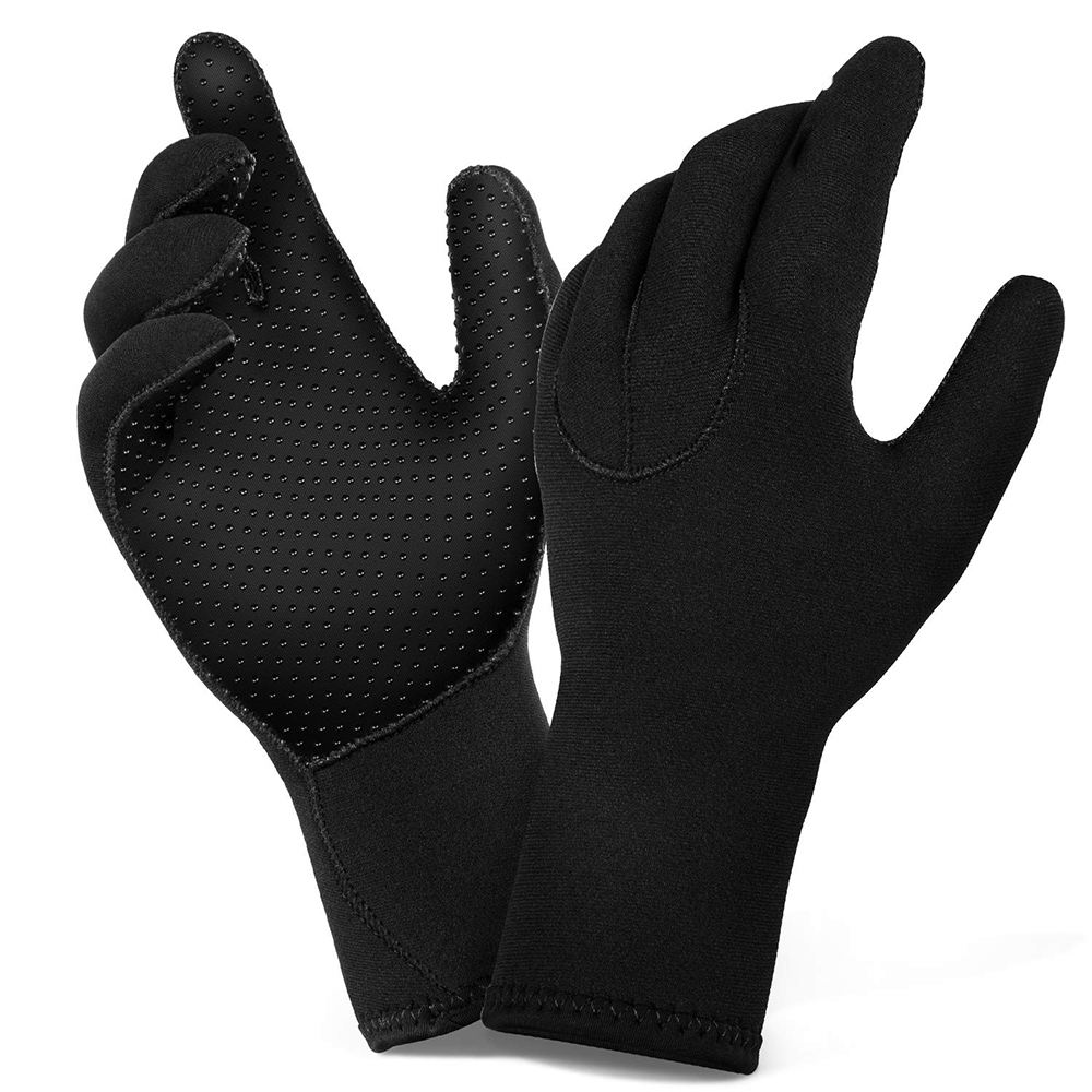 Wholesale High Quality Waterproof Five Finger Non Slip All Water Activities Men Women 3MM Neoprene Diving Gloves