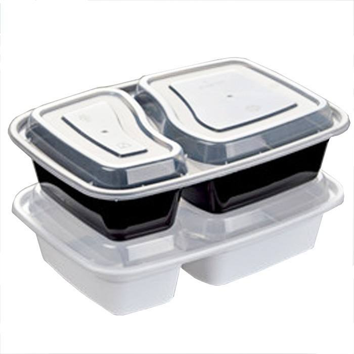 Custom PP Self Heating Food Packaging PP Meal Box Disposable Food Trays With Lid