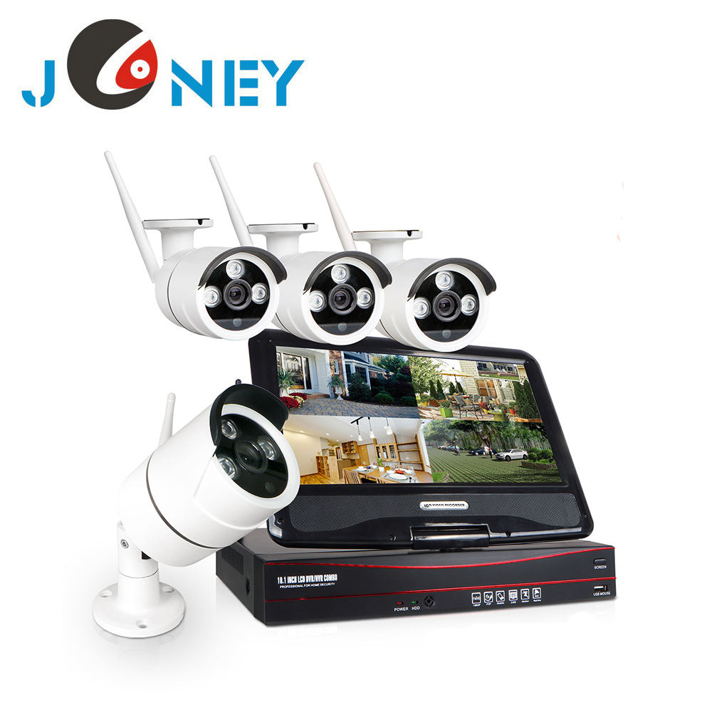 wireless cctv cameras for home security with all-in-one monitor