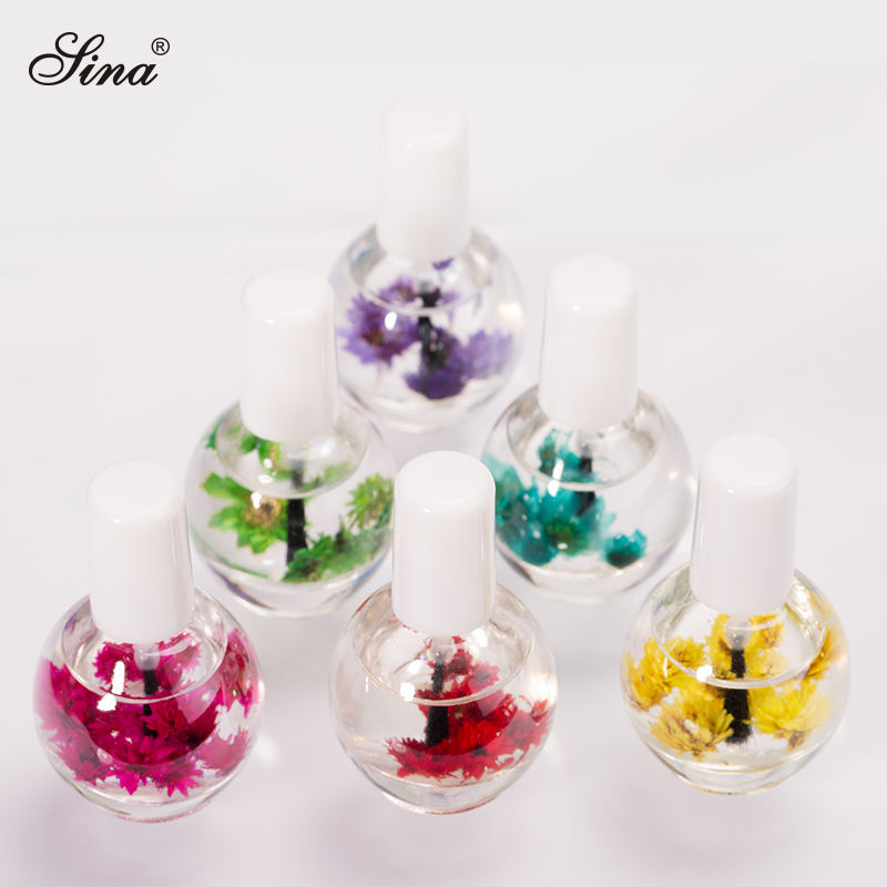 Private Label Nail Care Environmental Harmless Manicure Dry Flower Nutrition Cuticle Revitalizer Oil For Nail Art Decoration