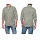 wholesale custom new model 100% plaid cotton men's dress shirt
