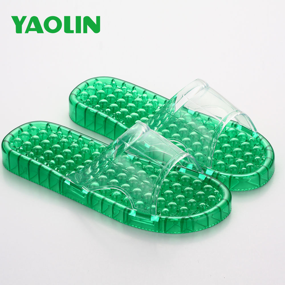 Japan Market Best Selling Hotel Massager Slippers Bathable Leaking Massage Slide Sandals