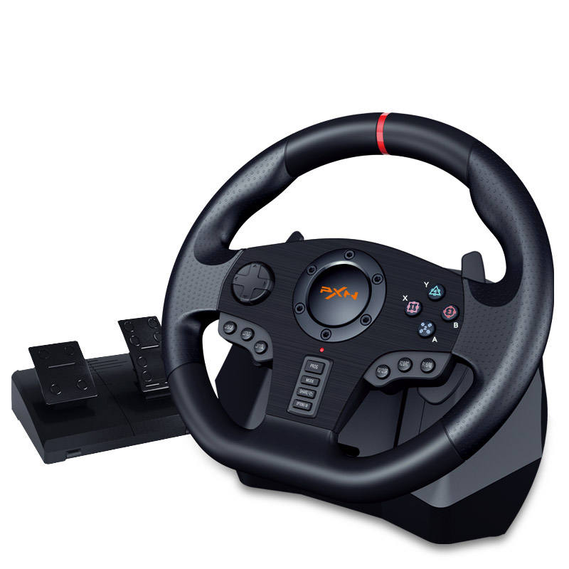 PXN-V900 900 degree Double Vibration Racing Steering Wheel for PC/PS3/PS4/Xbox oneSwitch X-Input/D-Input