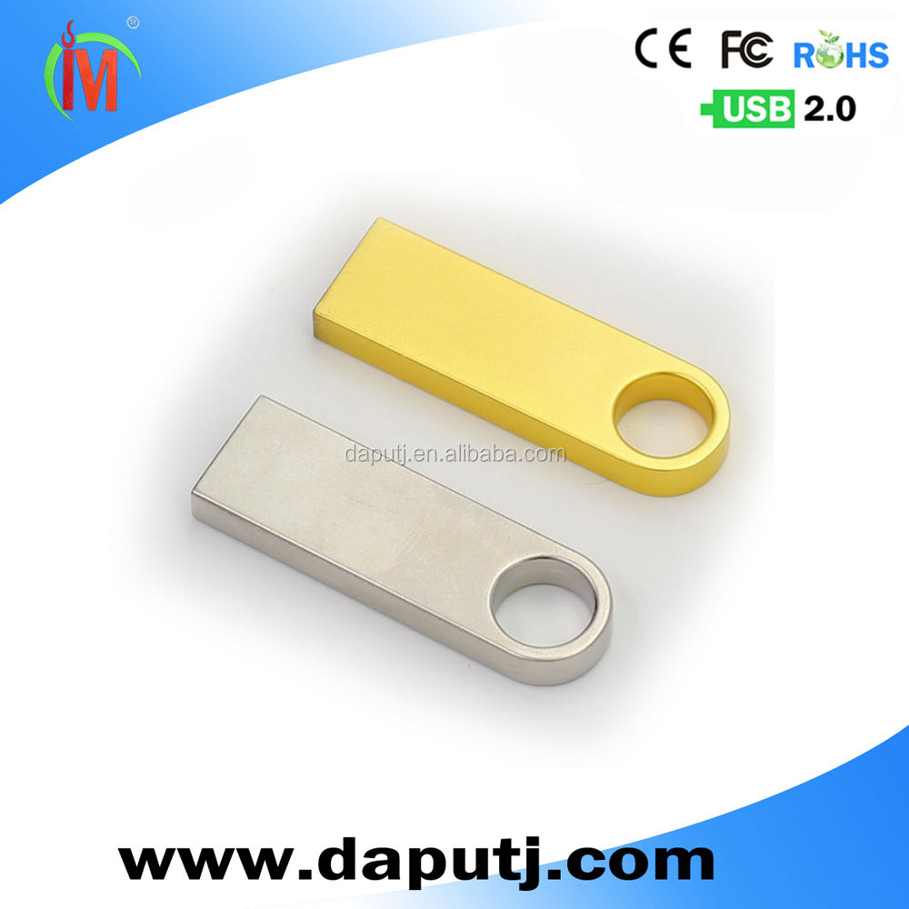 metal usb drive ,gold color mini usb flash