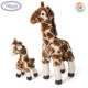 B692 Super Soft Stuffed Mom and Calf Animals Educational Plush Toys Baby Giraffe Plush Toy